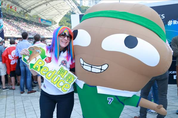 Big Waster returns to HK Sevens to promote waste reduction