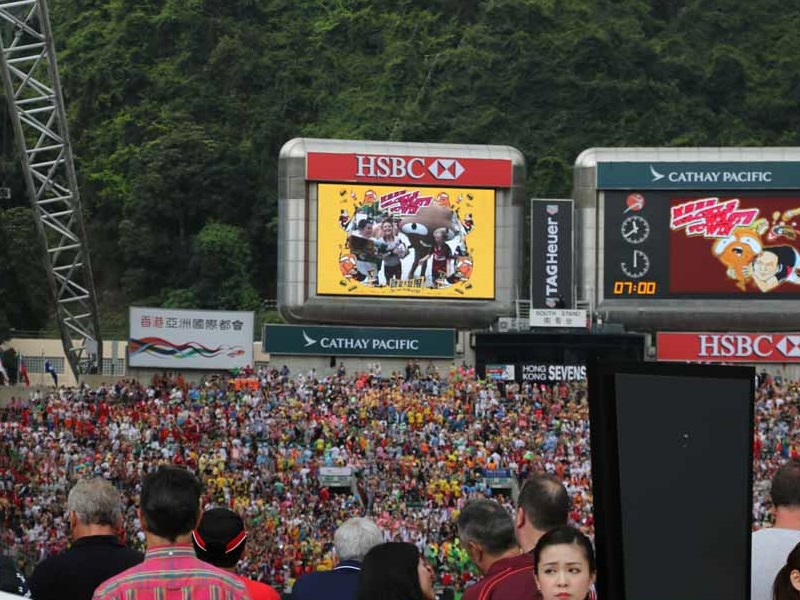 Big Waster returns to HK Sevens to promote waste reduction: the venue of rugby 7