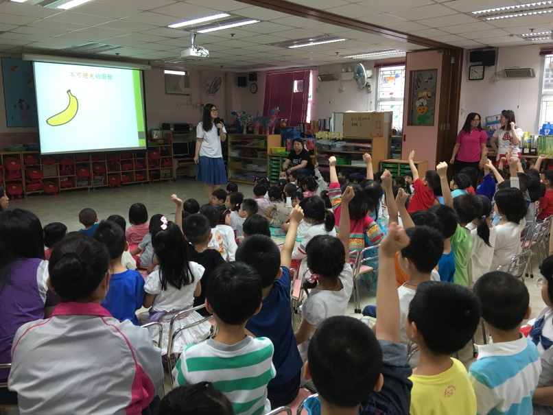 Food Wise Hong Kong Workshop for Yan Chai Hospital Kwok Chi Leung Kindergarten/Child Care Centre: Students actively participating in the workshop
