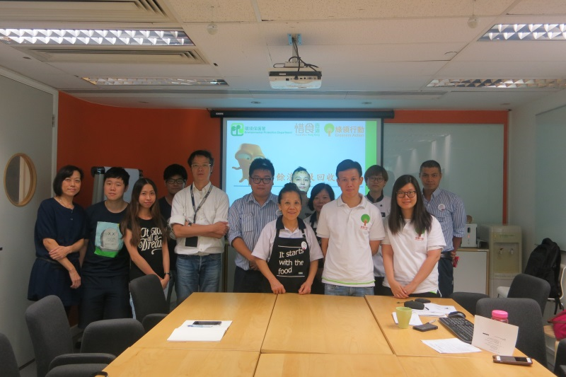 IKEA Food Wise Hong Kong Workshop: Group photo of EPD representative and staff