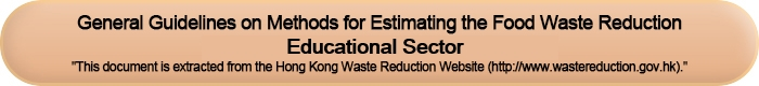 General Guidelines on Methods for Estimating the Food Waste Reduction (Educational Sector)