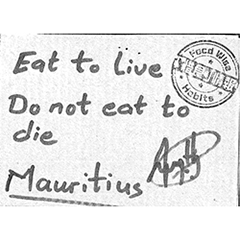 Eat to Live Do not eat to die
