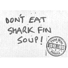 Don't eat shark fin soup